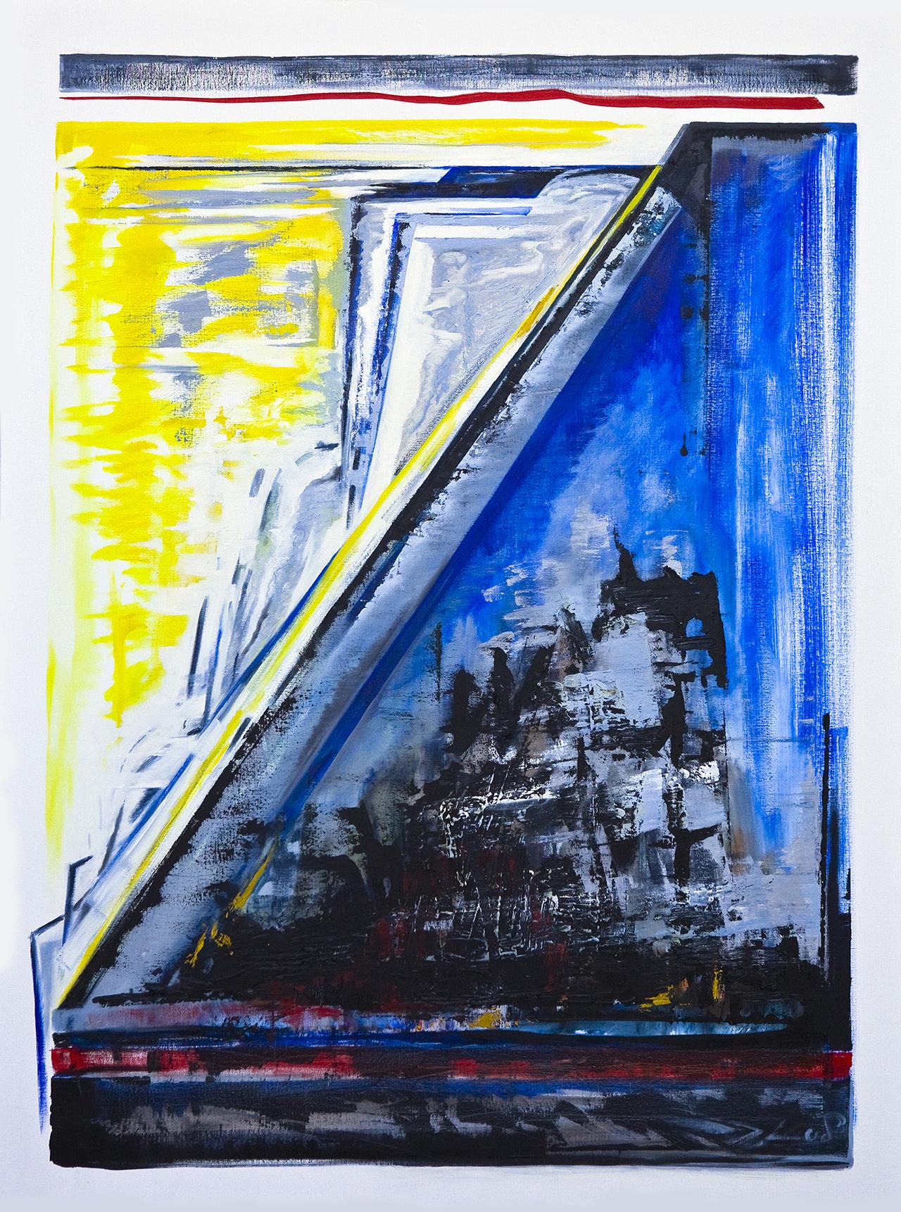 Vom Winde beweint (b) (2008) olieverf op linnen 200 x 150cm